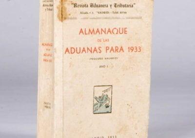 ALMANAQUE DE LAS ADUANAS PARA 1933