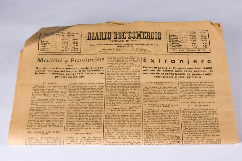 DIARIO DEL COMERCIO, FUNDADO EN 1890