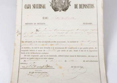 CAJA SUCURSAL DE DEPÓSITOS (DEPÓSITO EN METALICO)