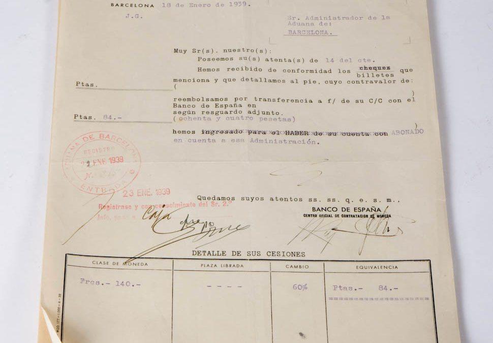 BANCO DE ESPAÑA, CENTRO OFICIAL DE CONTRACTACIÓN DE MONEDAS